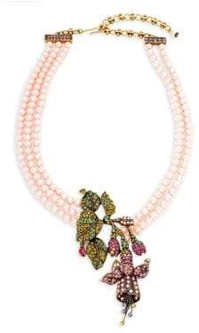 Heidi Daus Stargazer Faux Pearl and Crystal Pendant Necklace