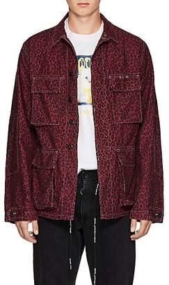 ADAPTATION Men's Leopard-Print Cotton Workers Jacket