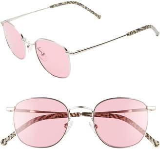 Colors In Optics Sammy 49mm Round Sunglasses