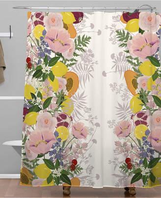 At Macys Deny Designs Iveta Abolina Papaya Prosecco Shower Curtain