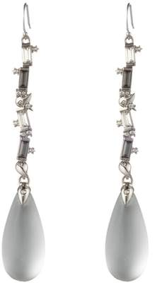 Alexis Bittar Winter Paisley Crystal Baguette Linear Drop Earrings