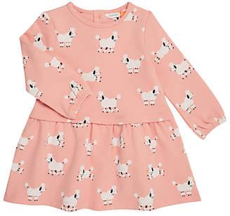 John Lewis Poodle Print Sweatshirt Dress, Pink