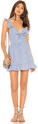 superdown Livia Striped Ruffle Dress