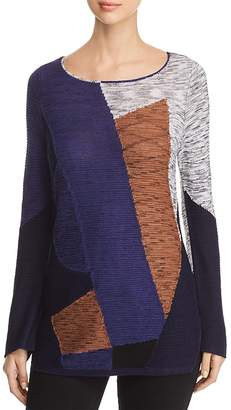 Nic+Zoe Art of Geometry Color-Blocked Sweater