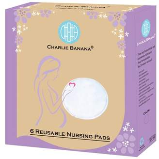 Charlie Banana Reusable Nursing Pads - Ultra-Soft Round Breastfeeding Pads | Washable Eco Friendly Absorbent Leak-Proof