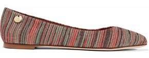 M Missoni Embellished Crochet-Knit Ballet Flats