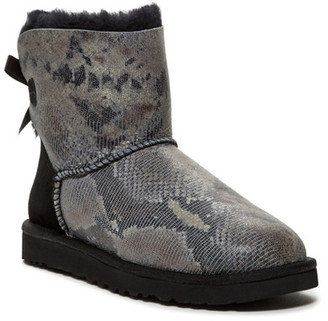 UGG Australia Mini Baily Bow Snake Genuine Shearling Fur Boot $159.95 thestylecure.com