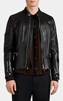 Lanvin Men's Leather Moto Jacket - Black