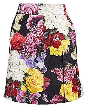 Dolce & Gabbana Women's Floral Brocade Mini Skirt