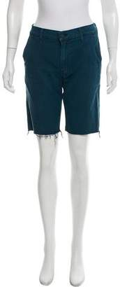 Mother Mid-Rise Knee-Length Shorts