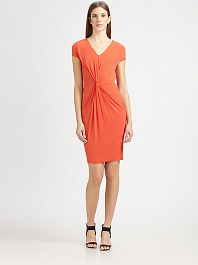 Max Mara Knot-Front Jersey Dress