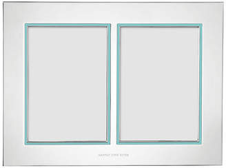 Kate Spade 5x7 Take the Cake Double Frame - Silver/Teal
