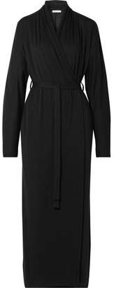 Skin - Kiera Pima Cotton-jersey Robe - Black