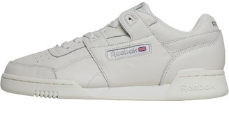 51a69c955fc Reebok Classics Womens Workout Plus Vintage Trainers Chalk Metallic Silver
