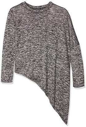 boohoo Women's Asymmetric Hem Long Sleeve Top