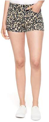 Juicy Couture Leopard Denim Girlfriend Short