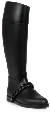 Givenchy Chain Rubber Rainboots $450 thestylecure.com