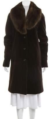 Michael Kors Sheared Mink & Sable Fur Coat brown Sheared Mink & Sable Fur Coat