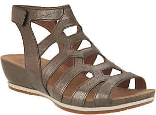 Dansko Leather or Nubuck Cutout Wedge Sandals- Valentina