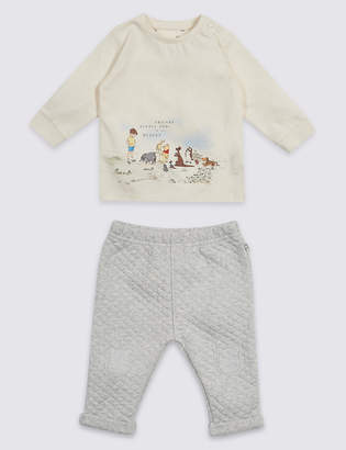 Marks and Spencer 2 Piece Winnie the Pooh & FriendsTM Top & Bottom Outfit