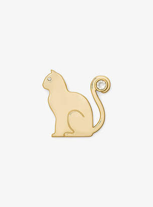 Michael Kors Gold-Tone Cat Pin