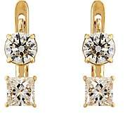 Ileana Makri Women's White Diamond Drop Earrings-Yellow Gold
