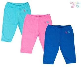 SAM. Sofie & Organic Cotton 3 pack Combo Baby Pajama - Sea Blue, Pink & Royal Blue