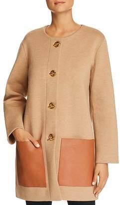 Tory Burch Reagan Toggle Sweater Coat