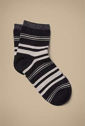 Witchery Stripe Quarter Crew Sock