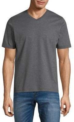 Saks Fifth Avenue V-Neck Short-Sleeve Cotton Tee