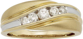MODERN BRIDE Mens 1/2 CT. T.W. Certified Diamonds 14K Two-Tone Band Ring