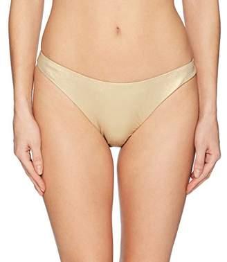 Trina Turk Women's High Leg Hipster Bikini Swimsuit Bottom, Gold/Shine on Print, 8