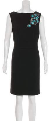 Tory Burch Embroidered Sleeveless Dress