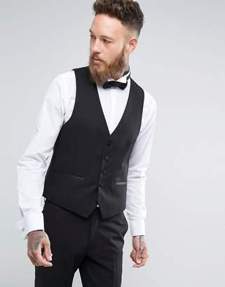 Moss Bros Skinny Tuxedo Vest