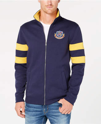 Club Room Men's Embroidered Fleece Varsity Jacket