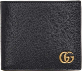 Gucci Black GG Marmont Bifold Wallet