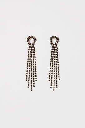 H&M Long Rhinestone Earrings - Gold
