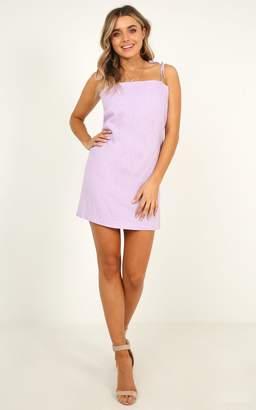 Showpo Say It Aint So Dress In lilac linen look - 6 (XS) Dresses