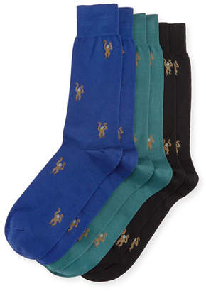 Paul Smith 3-Pack Monkey Socks, Multicolor