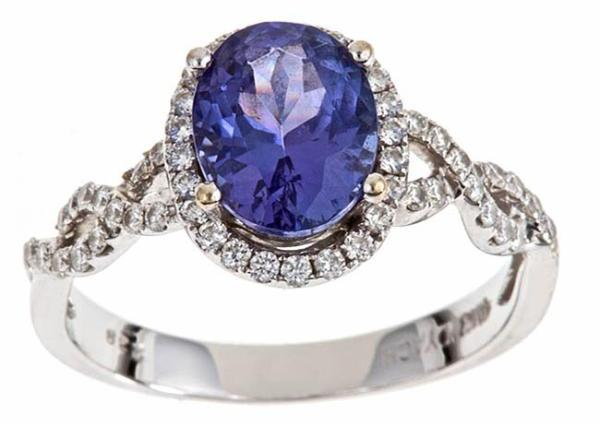 DYach D'Yach 18k White Gold Tanzanite and 2/5ct TDW Diamond Ring (I-J, I1-I2)
