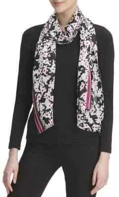 Calvin Klein Pop Colour Ditsy Floral Silk Scarf