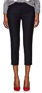 Thom Browne WOMEN'S WOOL LOW-RISE SKINNY TROUSERS - NAVY SIZE 42 IT