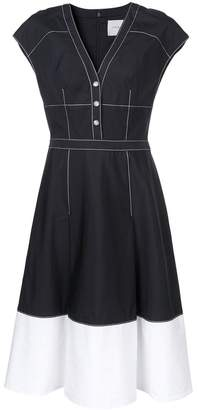 Carolina Herrera contrast stitching cap sleeve dress