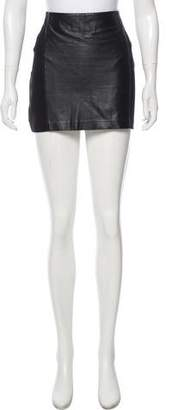 Armani Exchange Faux Leather Mini Skirt