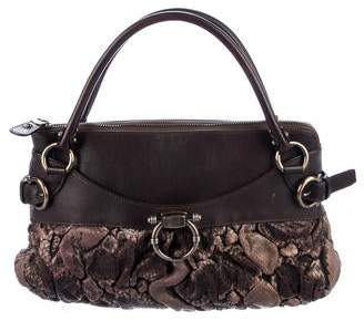 87d91f6cd1fa Pre-Owned at TheRealReal · Salvatore Ferragamo Quilted Snakeskin Gancio Bag