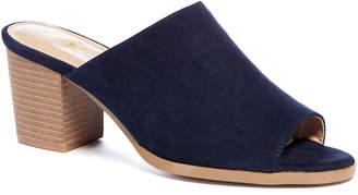 Tu Clothing Navy Block Heel Slip-On Mules