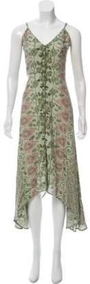 Reformation Button-Up Floral Print Dress