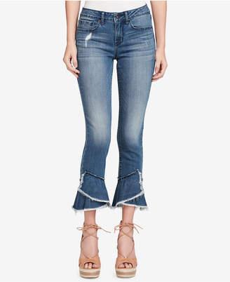 Jessica Simpson Forever Ruffled-Hem Skinny Jeans