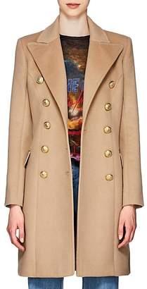 Balmain Women's Wool-Cashmere Double-Breasted Coat - Camel