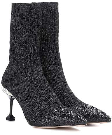 Miu Miu Stretch-knit ankle boots